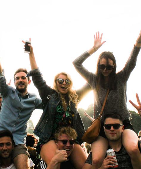 festival jongeren feest publiek smal