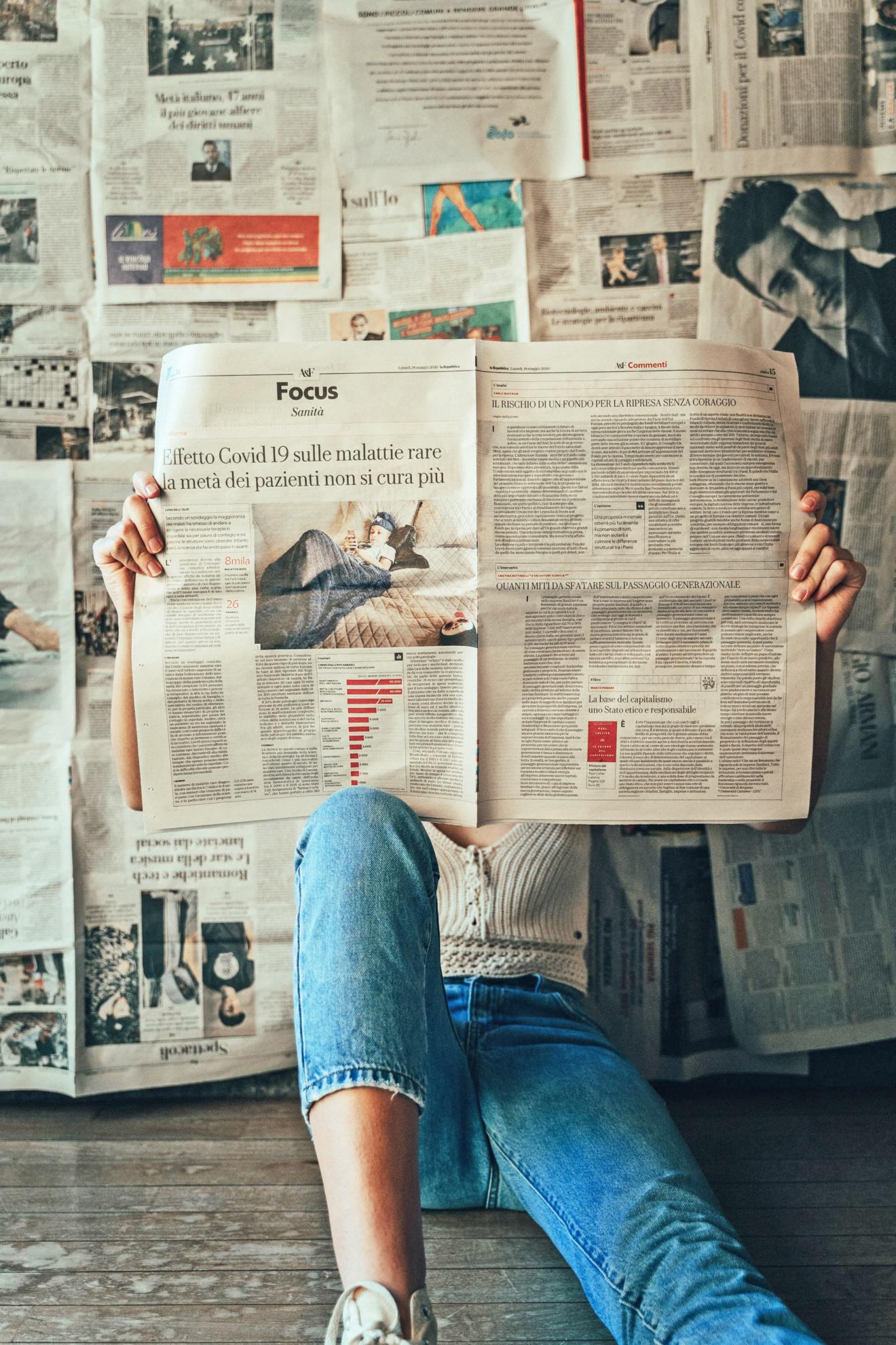 nieuws krant lezen